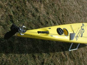 Optional over-stern rudder prevents damage from shallows and submerged obstacles.