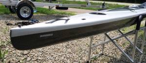 Multi Sport layup stern.  Note mount for over-stern rudder.