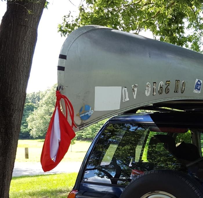 aluminum canoe, USCA, canoe, race, flag, warning, car, transport, carrier racing