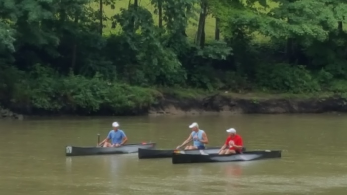 C1, race, paddlers, canoe, St Joe River, Fort Wayne, Indiana, racing, USCA, Three Rivers Fest