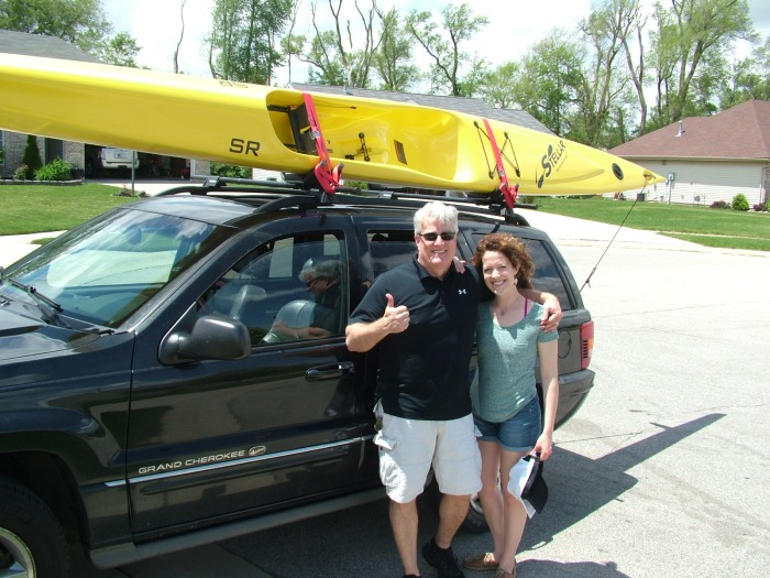 Stellar, Midwest, Indiana, Ohio, Michigan, Illinois, paddling, gear, kayaks, kevlar, carbon, lightweight, surf ski, sit on top, yellow